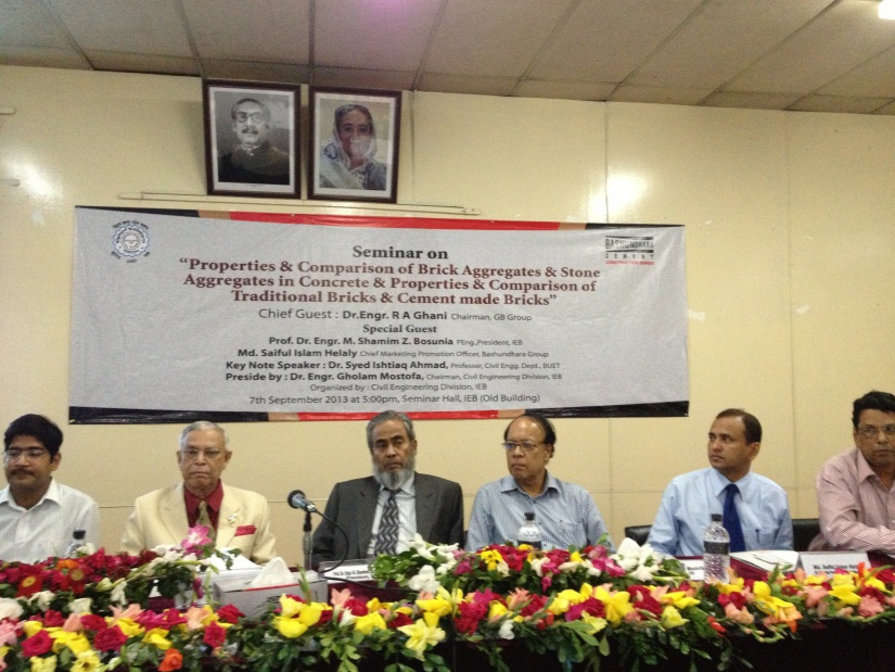 Bashundhara Cement & IEB, Seminar on Brick VS Cement Made Brick