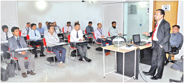 Participants at a workshop on Disciplinary Action: Process & Procedure held at Bashundhara Training Centre in the city on Saturday.
