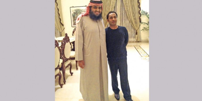 Qatar Prince Hamad Bin Fahad meets Sayem Sobhan Anvir