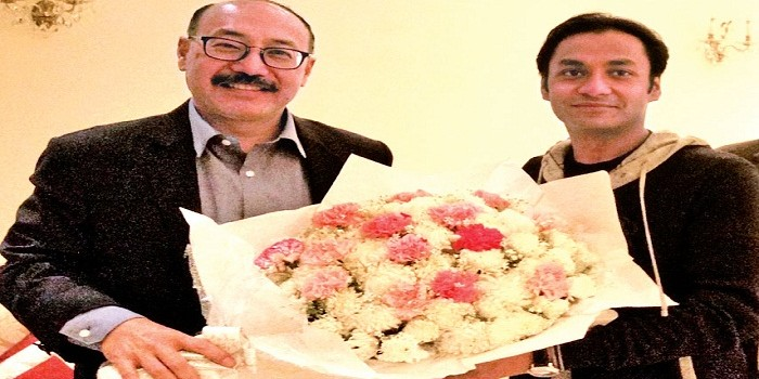 Sayem Sobhan greets new Indian envoy