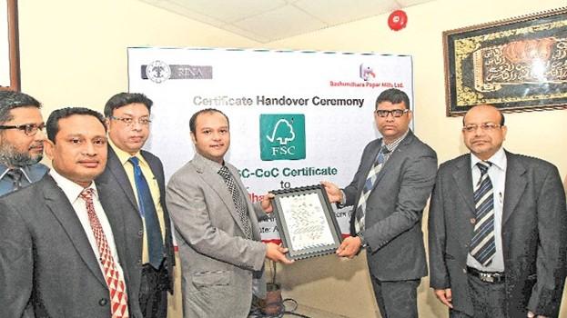 Bashundhara Paper Mills gets FSC-CoC certificate