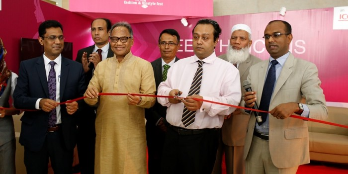 "A grand inaugural ceremony was held to launch the mega-event ""South Asian Fashion & Lifestyle Fest 2016"" at International Convention City Bashundhara (ICCB). Mr. Sadat Sobhan, Co-Chairman, Bashundhara Group, was the Chief Guest at the vibrant inaugural ceremony. Other Sr. officials & prominent personalities attending the ceremony included; Mr. Imdadul Haque Milan, Editor, The Daily Kaler Kantho, Mr. Mohammad Abu Tayeb, Adviser, Press and Media, Major General (Retd.) Mahboob Haider Khan, Advisor and M.M Jasim Uddin, Head of Operations,ICCB, along with numerous foreign exhibitors."